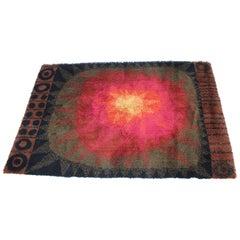 Midcentury Scandinavian Style Abstract Rug / Carpet, 1970s