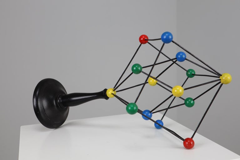 Mid-Century Modern Mid-Century Scientific Crystal Molecular Model Czechoslovakia from the 1960s  For Sale
