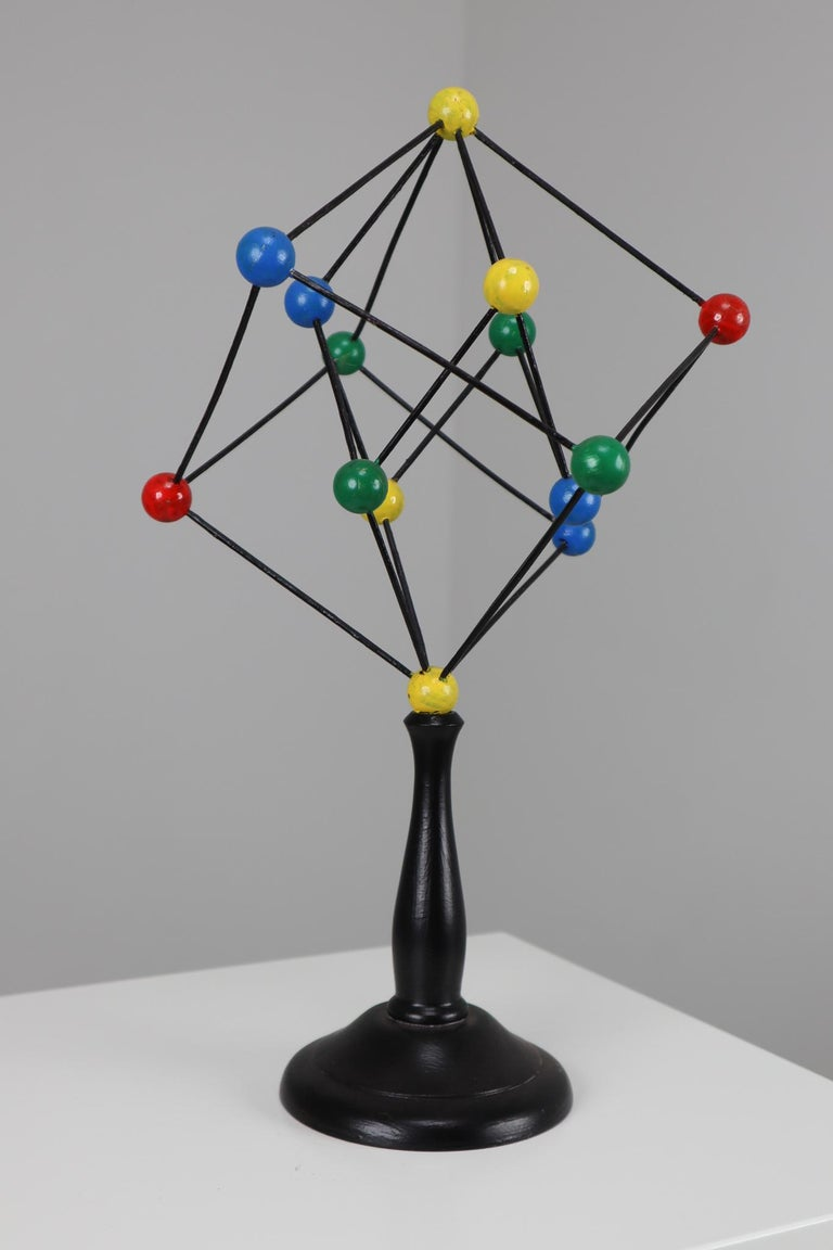 Mid-Century Scientific Crystal Molecular Model Czechoslovakia from the 1960s  In Good Condition For Sale In Almelo, NL