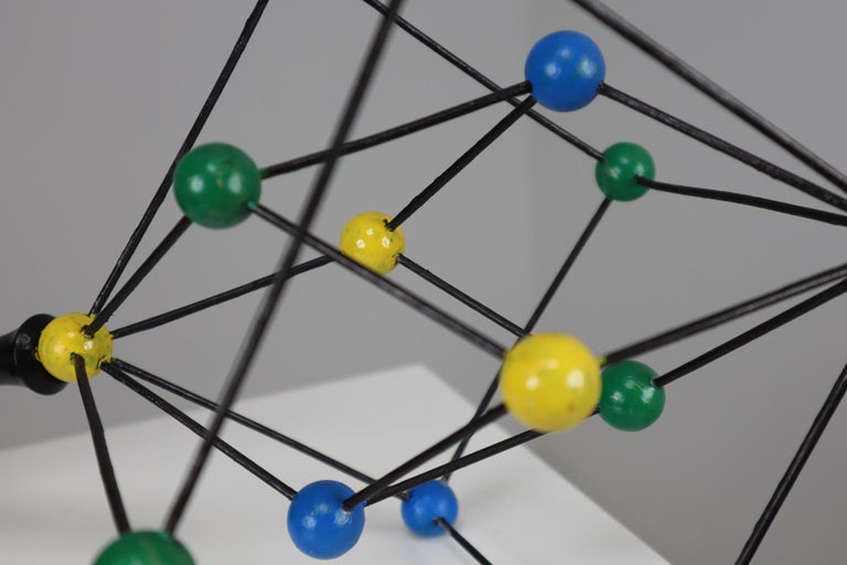 20th Century Mid-Century Scientific Crystal Molecular Model Czechoslovakia from the 1960s  For Sale