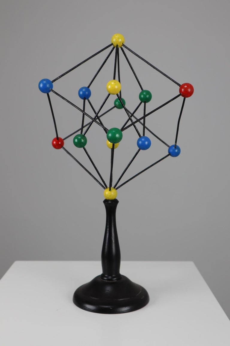 Metal Mid-Century Scientific Crystal Molecular Model Czechoslovakia from the 1960s  For Sale