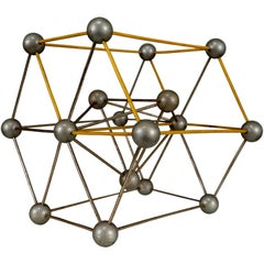 Mid-Century Scientific Crystal Molecular Model