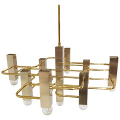 Midcentury Sciolari Chandelier with 9-Light Points