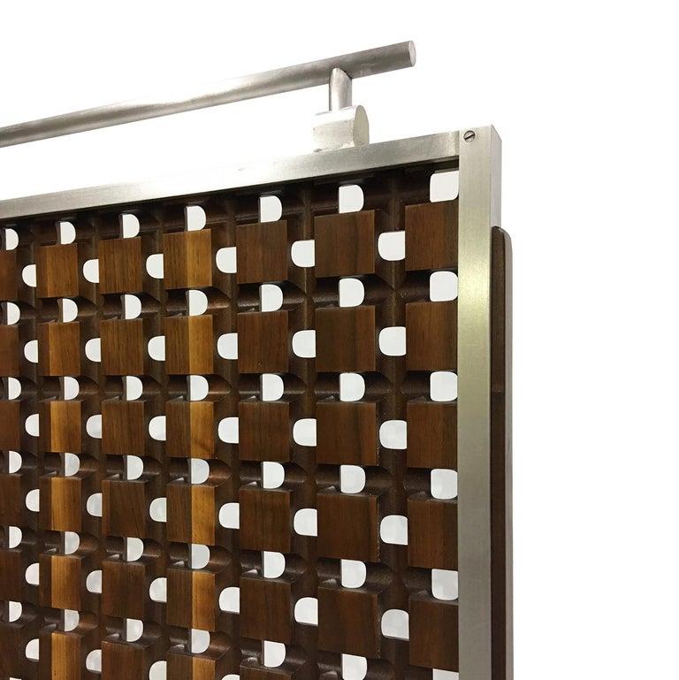Mid-Century Modern Midcentury Screens, Walnut and Aluminum For Sale