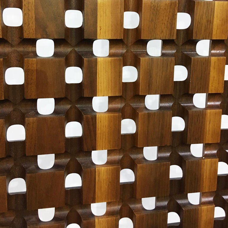 Midcentury Screens, Walnut and Aluminum For Sale 1