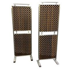 Midcentury Screens, Walnut and Aluminum