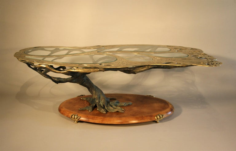 Midcentury Sculptural Cast Bronze Coffee Table For Sale 3