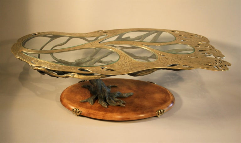 Midcentury Sculptural Cast Bronze Coffee Table For Sale 6