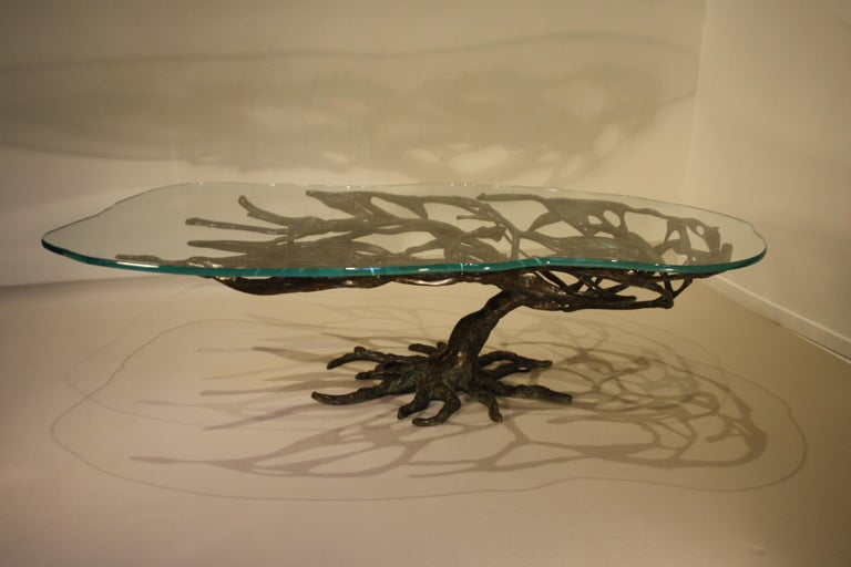 Midcentury Sculptural Cast Bronze Coffee Table, 1960s For Sale 8