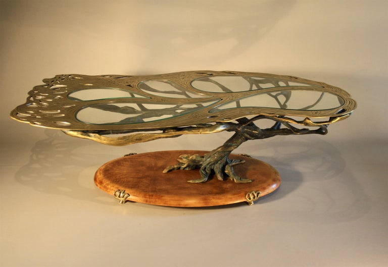Mid-Century Modern Midcentury Sculptural Cast Bronze Coffee Table For Sale