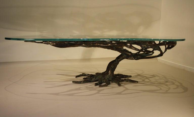 Belgian Midcentury Sculptural Cast Bronze Coffee Table, 1960s For Sale