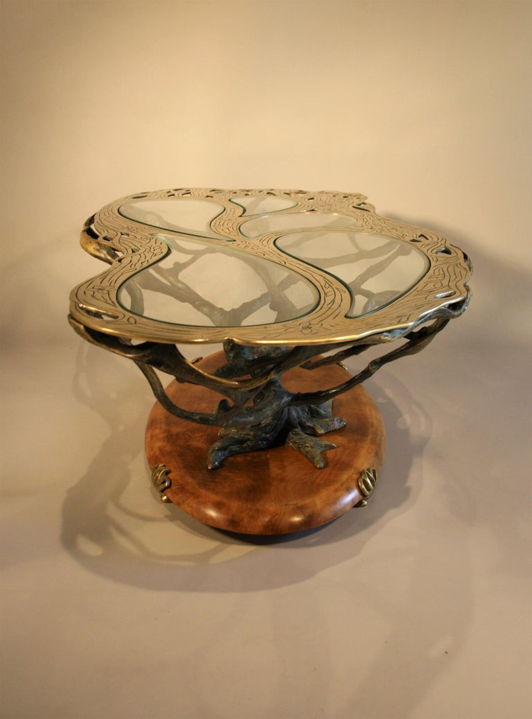 Mid-20th Century Midcentury Sculptural Cast Bronze Coffee Table For Sale