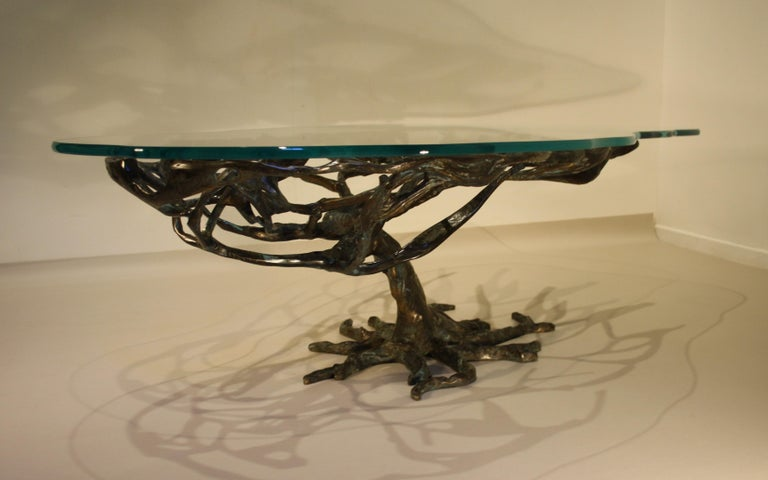 Mid-20th Century Midcentury Sculptural Cast Bronze Coffee Table, 1960s For Sale