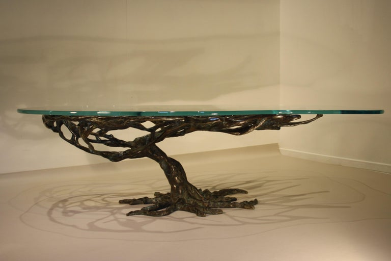Midcentury Sculptural Cast Bronze Coffee Table, 1960s For Sale 1