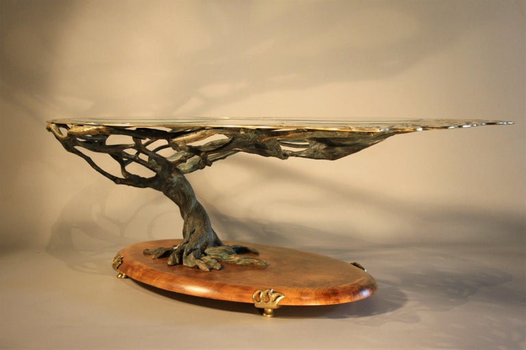 Midcentury Sculptural Cast Bronze Coffee Table For Sale 2