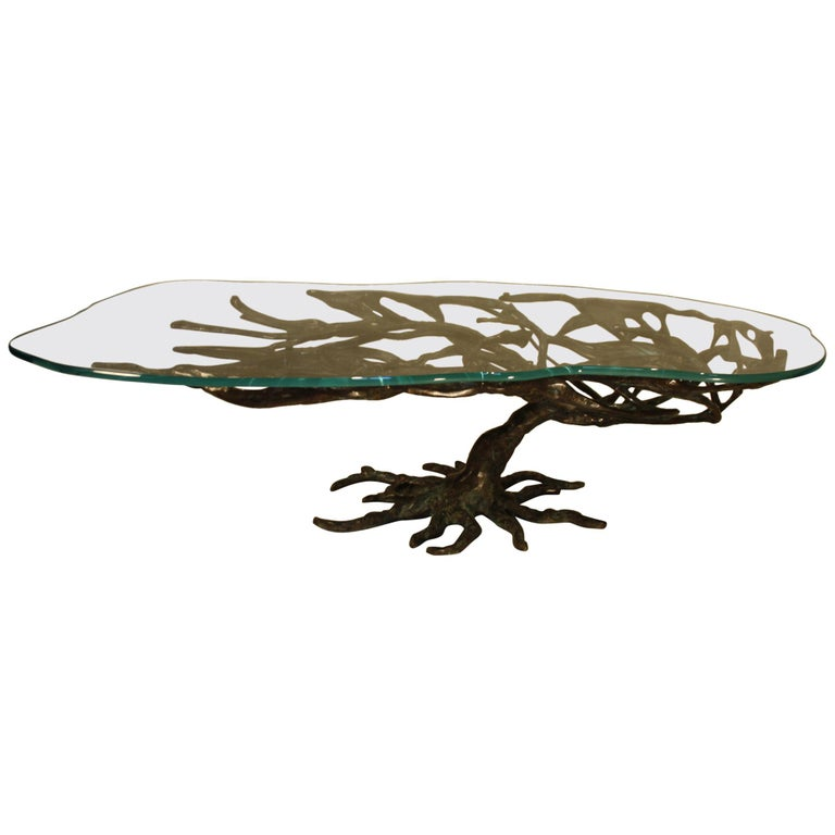 Midcentury Sculptural Cast Bronze Coffee Table, 1960s For Sale