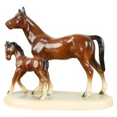 Mid-Century Sculpture of Horses, 1960s