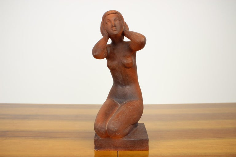 Mid-Century Modern Mid-Century Sculpture of Nude Sitting Women Designed by Jitka Forejtová, 1960s For Sale