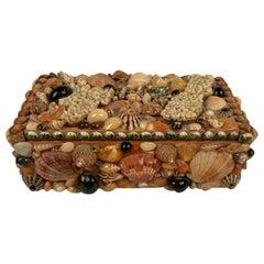 Mid Century Sea Shell Trinket Box