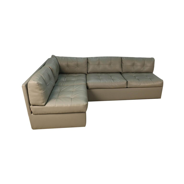 Midcentury Sectional Sofa by Preview Vladimir Kagan Style In Good Condition For Sale In Baltimore, MD