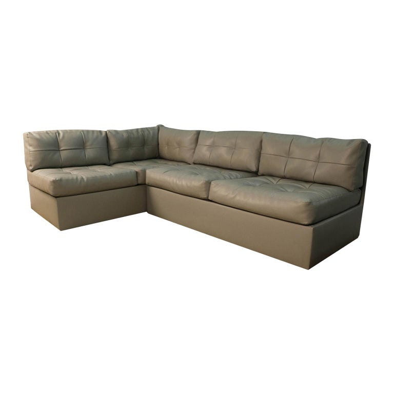 Midcentury Sectional Sofa by Preview Vladimir Kagan Style For Sale
