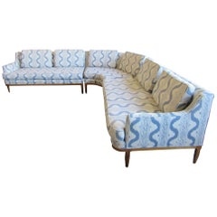 Mid Century Sectional Sofa in the style of Widdicomb