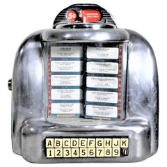 Midcentury Seeburg Styled Wall Mount Jukebox Diner or Soda Shop Tune Selector