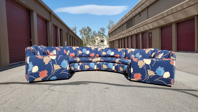 Midcentury Semi Circular 2-Piece Sectional Sofa In Good Condition For Sale In Las Vegas, NV