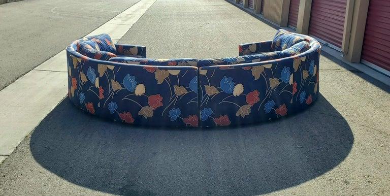 20th Century Midcentury Semi Circular 2-Piece Sectional Sofa