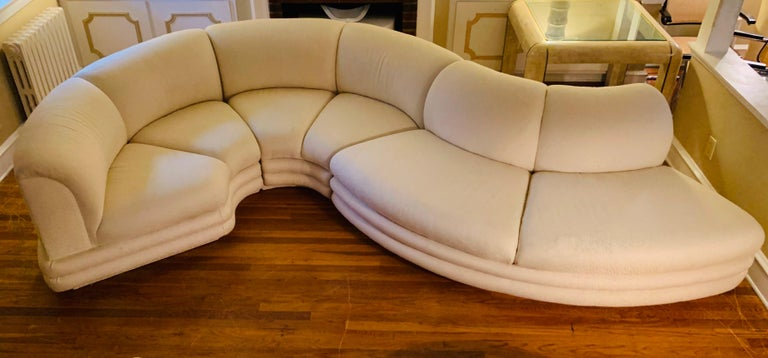 Post-Modern Midcentury Serpentine Sectional Sofa by Carsons For Sale