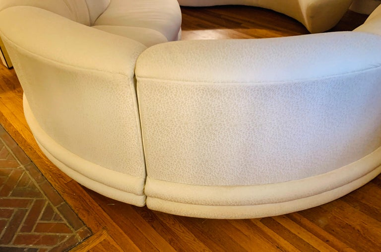 Late 20th Century Midcentury Serpentine Sectional Sofa by Carsons For Sale