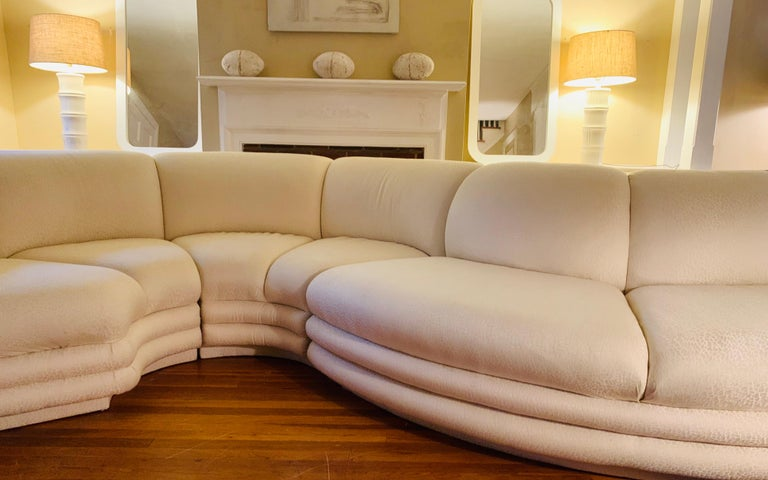 Midcentury Serpentine Sectional Sofa by Carsons For Sale 1