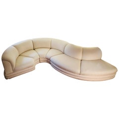 Midcentury Serpentine Sectional Sofa by Carsons