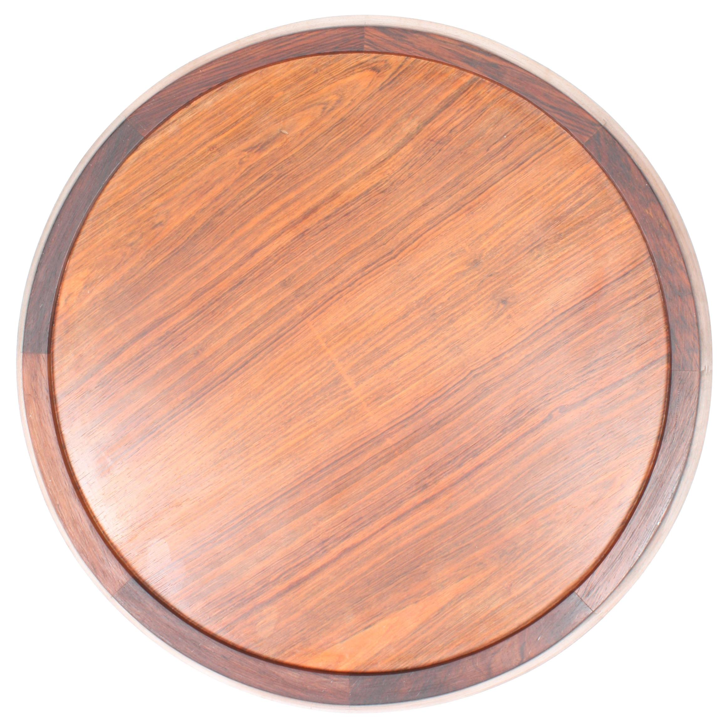 Midcentury Serving Tray in Rosewood, Danish Modern, 1950s