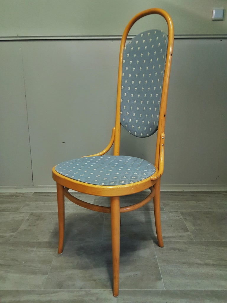 Midcentury Set of 10 Thonet High Back Bentwood Chairs For Sale 6