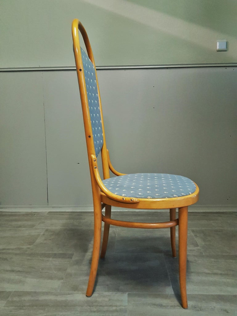 German Midcentury Set of 10 Thonet High Back Bentwood Chairs For Sale