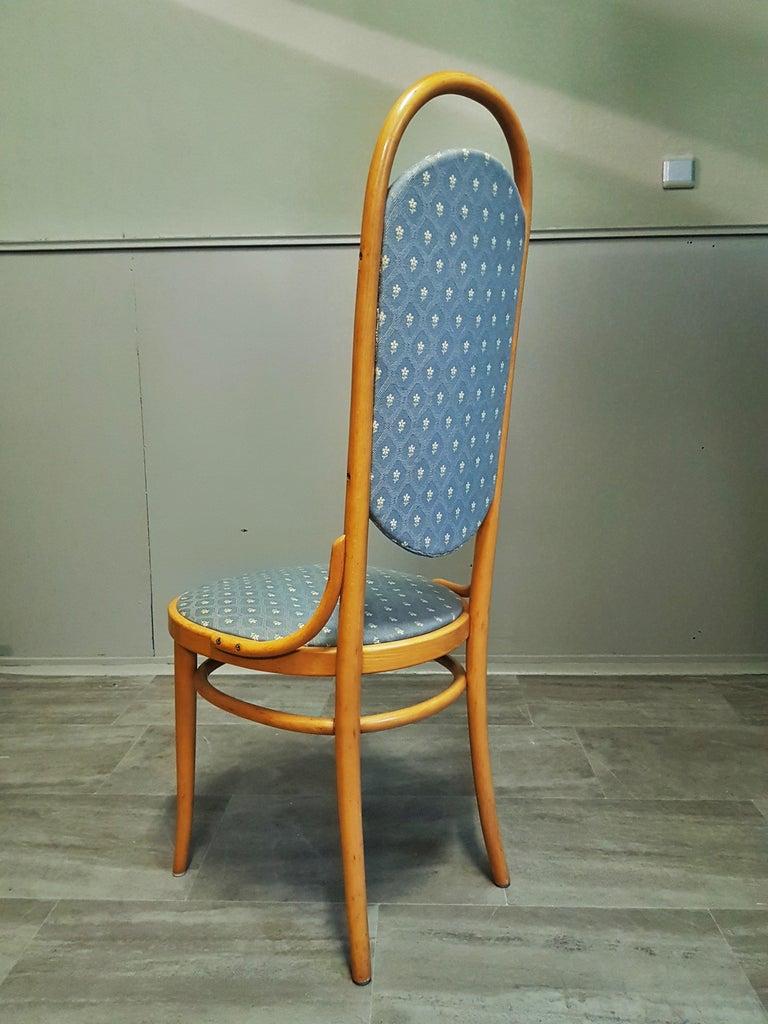 Midcentury Set of 10 Thonet High Back Bentwood Chairs In Good Condition For Sale In Saarbruecken, DE