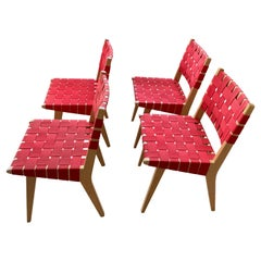 Mid-Century Set of 4 Side/Dining Chairs by Jens Risom Knoll Studio Chairs