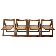 """Mid-Century Set of 4 """"Trieste"""" Chairs by Jacober & d'Aniello for Bazzani, 1960's"""
