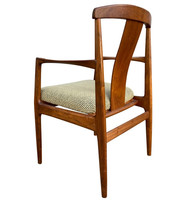 Midcentury Set of 6 Teak Dining Chairs by Folke Ohlsson for DUX For Sale 4