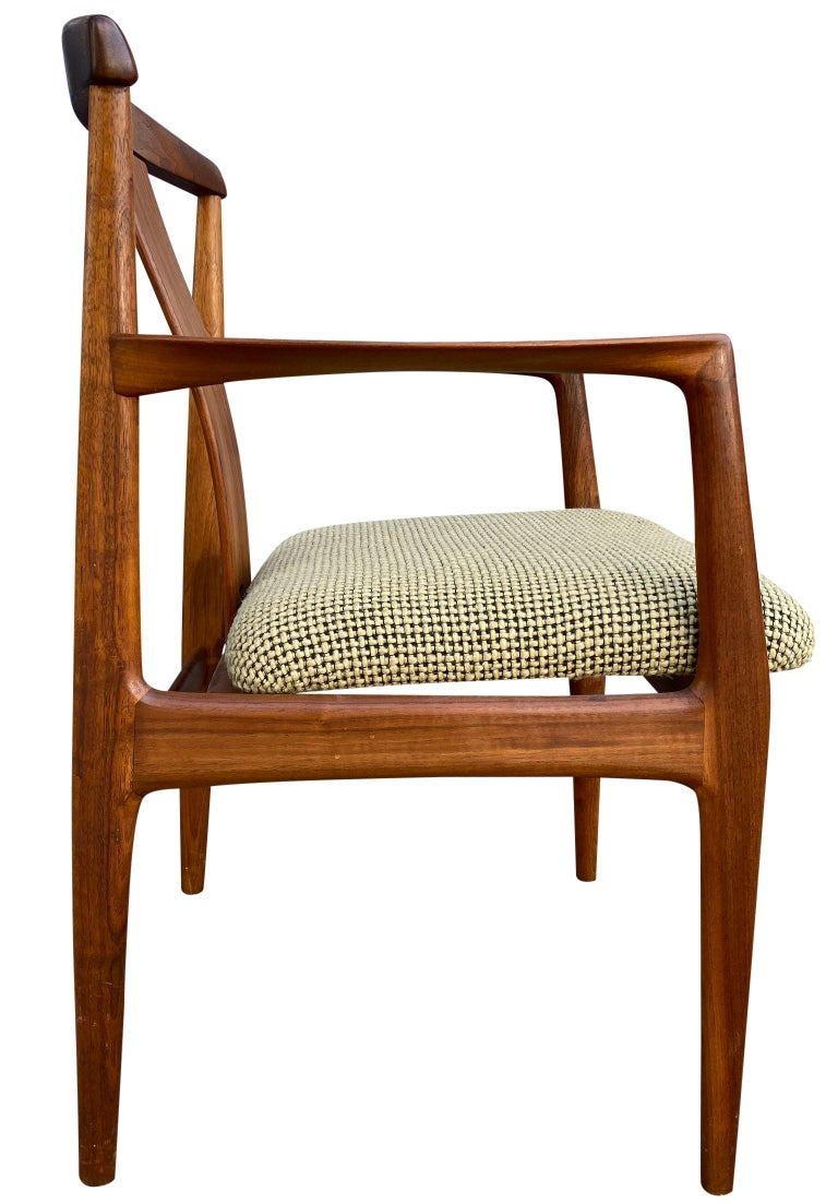 Midcentury Set of 6 Teak Dining Chairs by Folke Ohlsson for DUX For Sale 5
