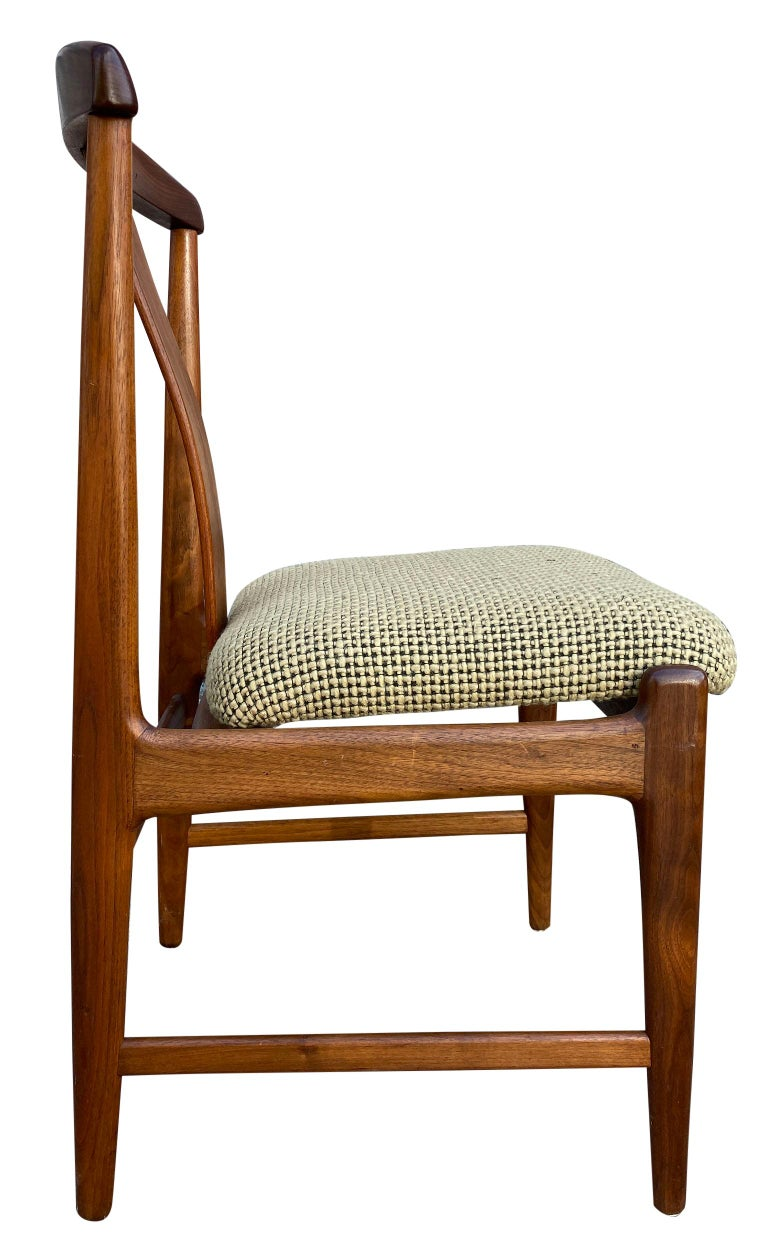 Midcentury Set of 6 Teak Dining Chairs by Folke Ohlsson for DUX For Sale 6