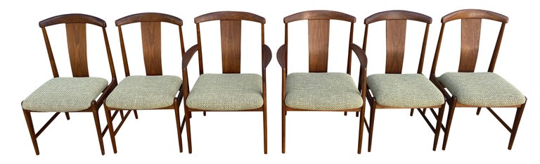 Mid-Century Modern Midcentury Set of 6 Teak Dining Chairs by Folke Ohlsson for DUX For Sale