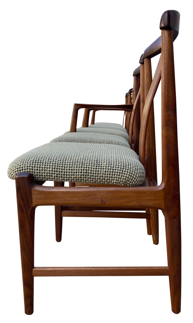Midcentury Set of 6 Teak Dining Chairs by Folke Ohlsson for DUX In Good Condition For Sale In BROOKLYN, NY