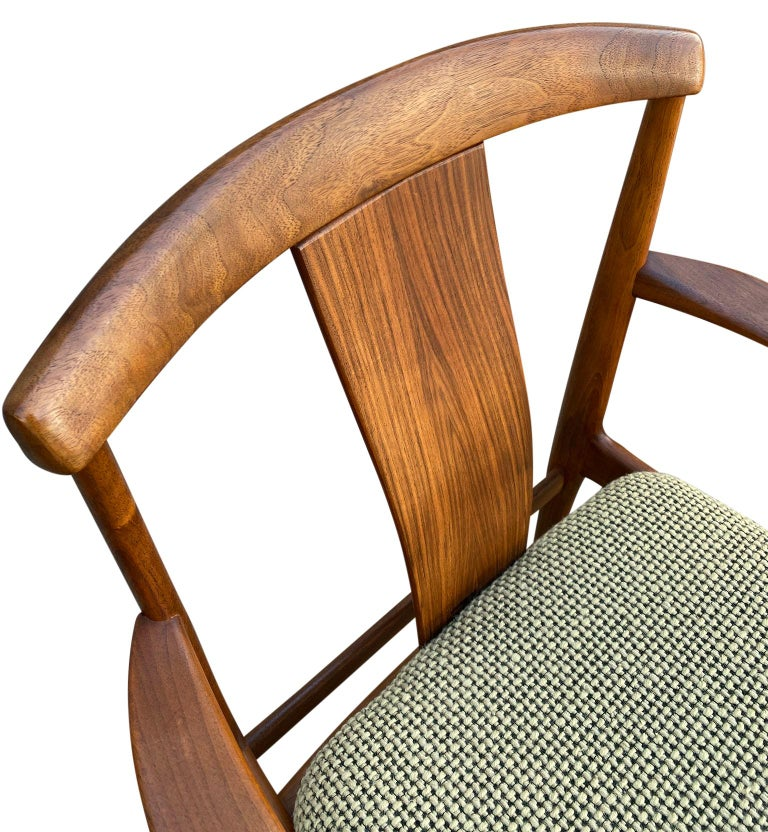 Mid-20th Century Midcentury Set of 6 Teak Dining Chairs by Folke Ohlsson for DUX For Sale