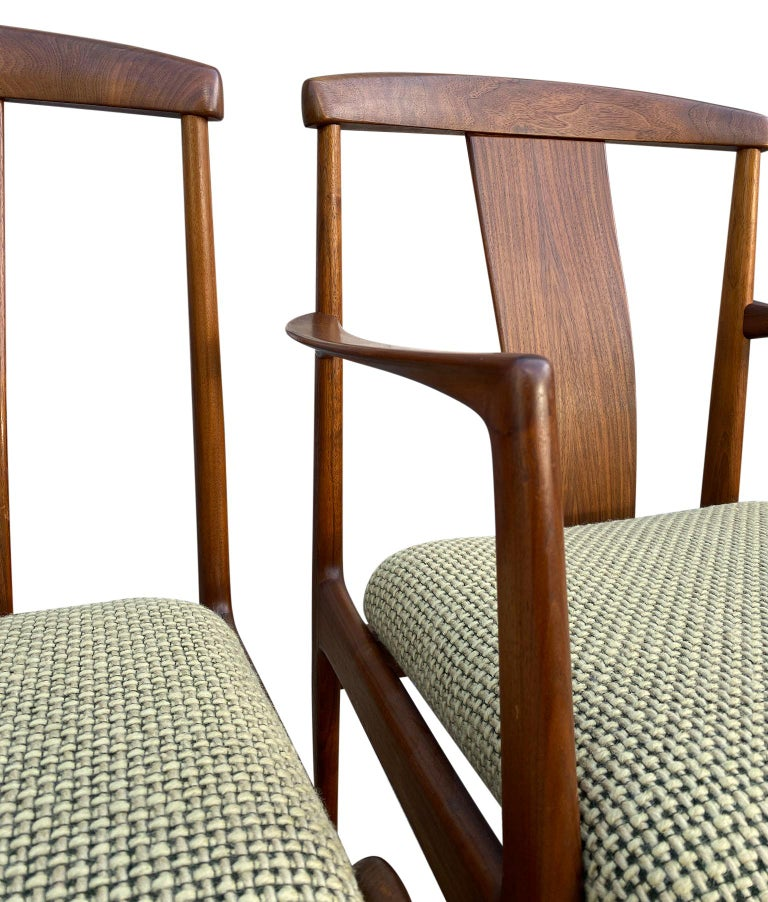 Midcentury Set of 6 Teak Dining Chairs by Folke Ohlsson for DUX For Sale 2
