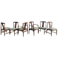 Midcentury Set of 6 Teak Dining Chairs by Folke Ohlsson for DUX