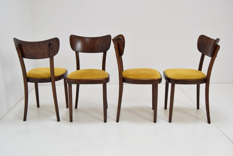 Mid-Century Modern Midcentury Set of Four Chairs or Ton, 1960s For Sale