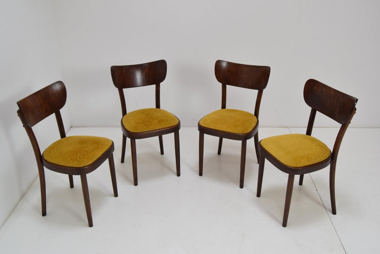 Midcentury Set of Four Chairs or Ton, 1960s For Sale 1