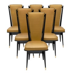 Midcentury Set of French Dining Chairs